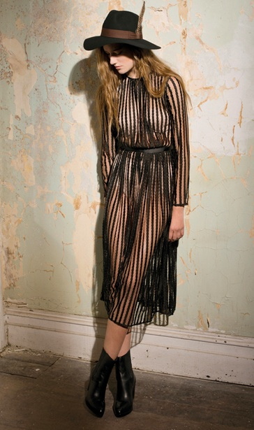 Independen Stripe Lace Dress