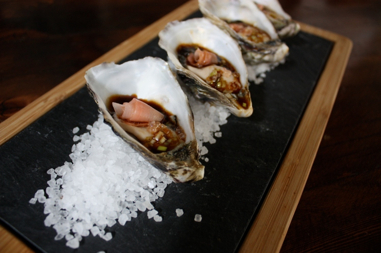 Oysters with Sweet Soy