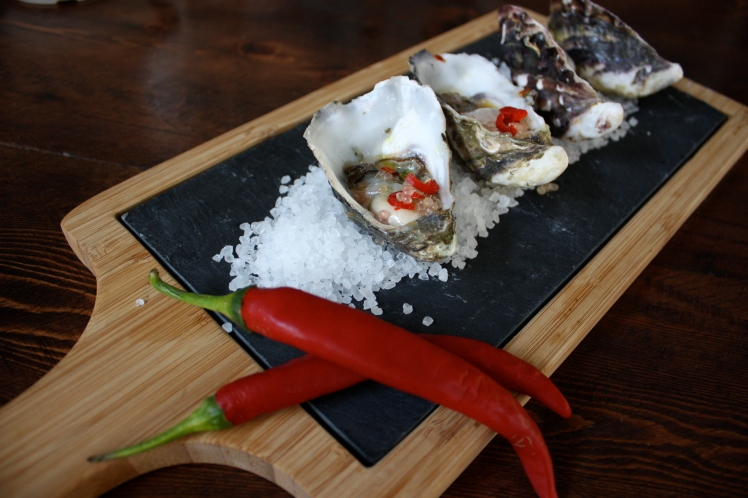 Oysters with Chili Lime