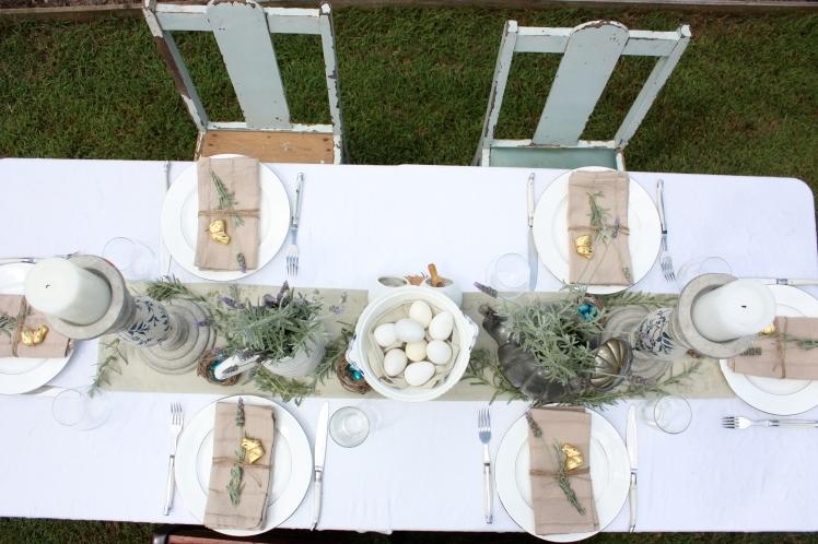 Easter Brunch Lunch Table | brownpaperbelle.com