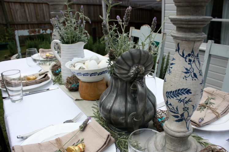 Lavender Easter Lunch Table | brownpaperbelle.com