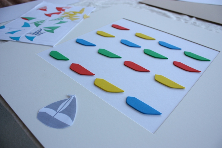 Paper Sailboat Baby Frame | brownpaperbelle.com