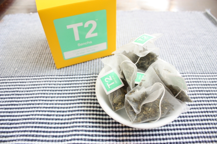 T2 Sencha Green Tea Bags | brownpaperbelle.com
