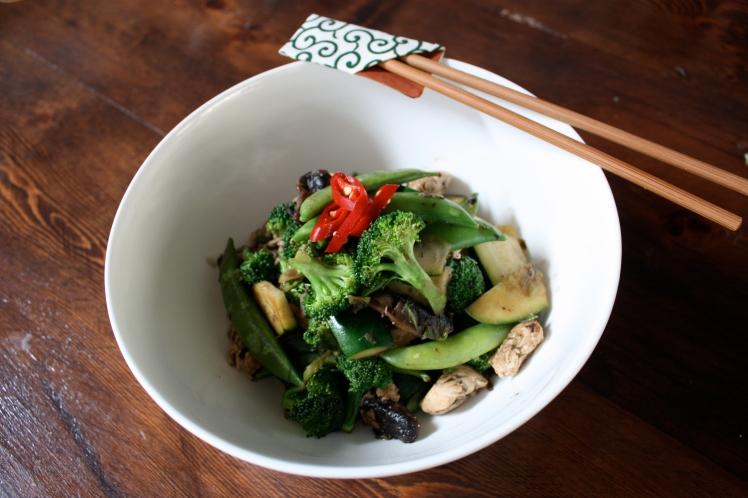 Green Wok Stir Fry | brownpaperbelle.com
