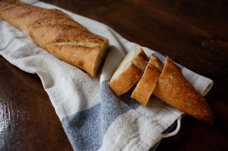 Sourdough Baguette | brownpaperbelle.com