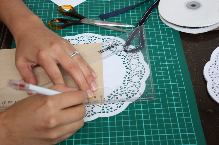Lace Doily Birthday Card | brownpaperbelle.com