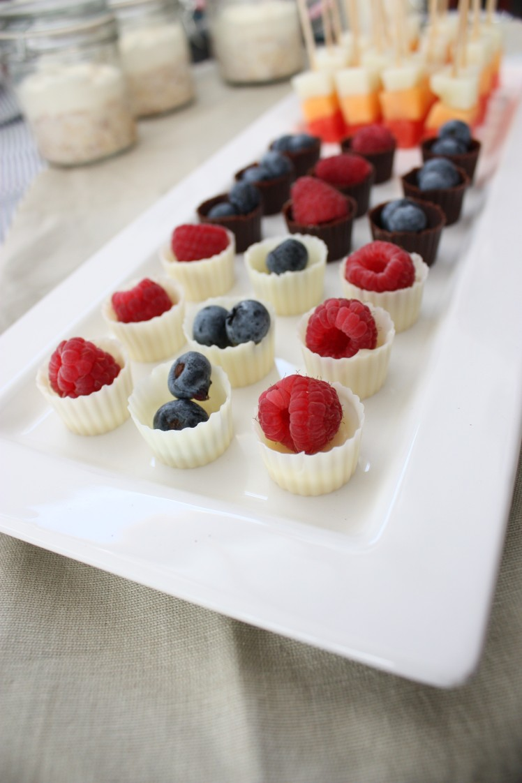 Berry Chocolate Cups | brownpaperbelle.com
