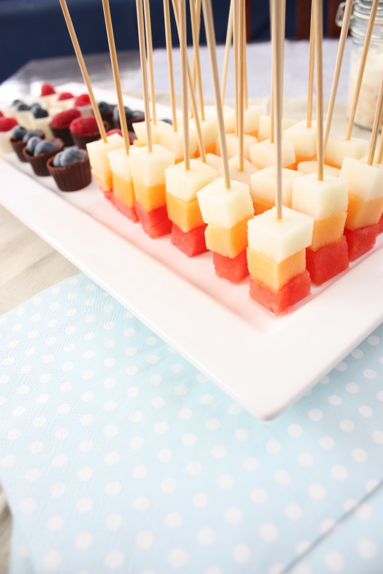 Trio of Melon Skewers | brownpaperbelle.com