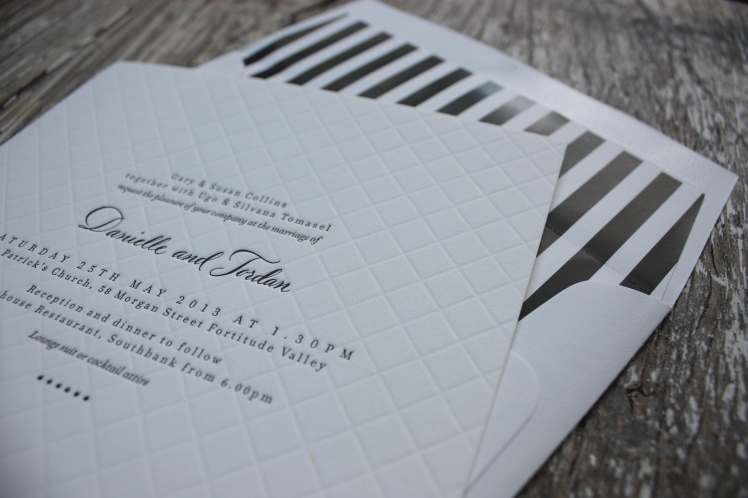 Letterpress Wedding Invitations | brownpaperbelle.com