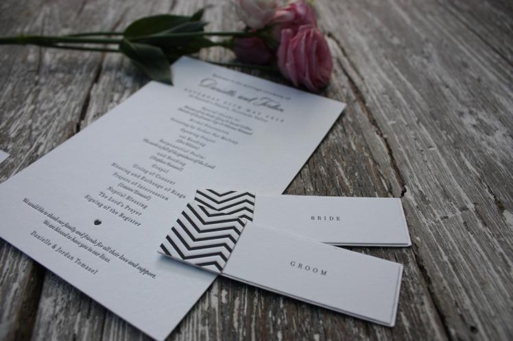Letterpress Order of Service | brownpaperbelle.com