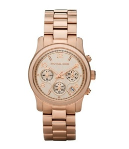 Michael Kors Rose Gold Watch | brownpaperbelle.com