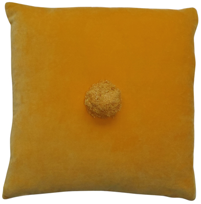 Rachel Castle Pom Pom Cushion | brownpaperbelle.com