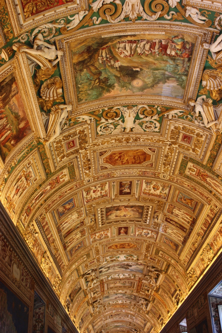 Ceiling of the Vatican Museum, Rome | brownpaperbelle.com