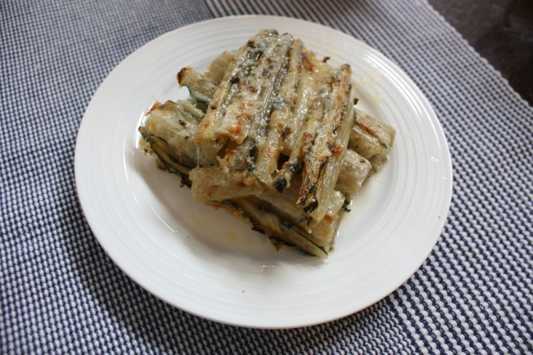 Swiss Chard Stalk Gratin with Parmesan | brownpaperbelle.com