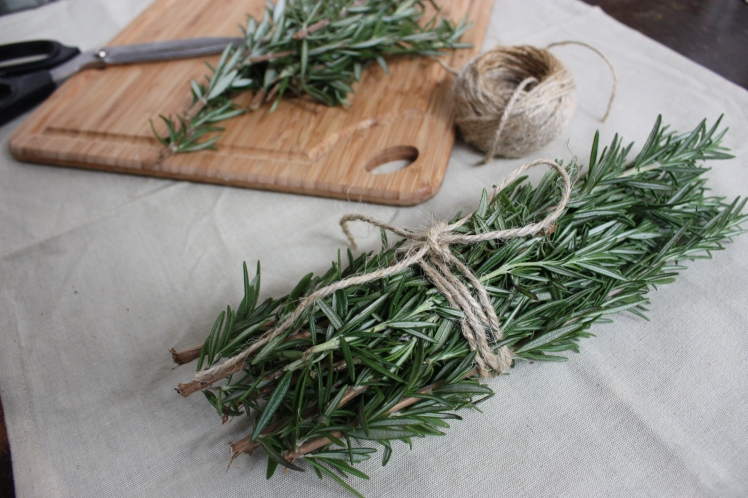 Rosemary Bundle Wrapped with Twine | brownpaperbelle.com