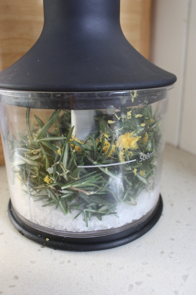 Rosemary Lemon Flavoured Salt | brownpaperbelle.com