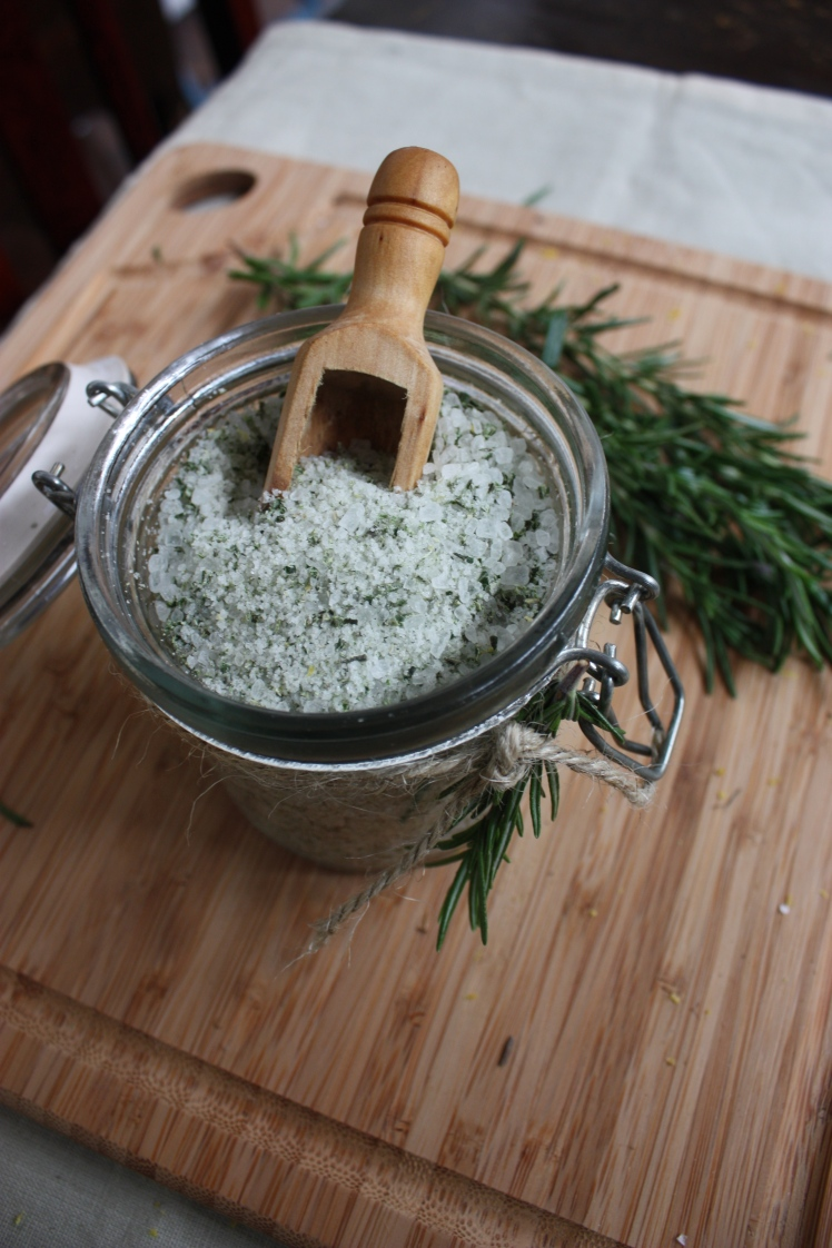 Rosemary & Lemon Flavoured Salt Bonbonniere | brownpaperbelle.com