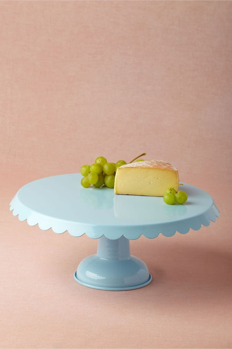 Duck Egg Blue Scalloped Edge Cake Stand | brownpaperbelle.com