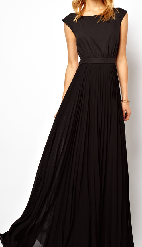 Mango Black Maxi Dress | brownpaperbelle.com