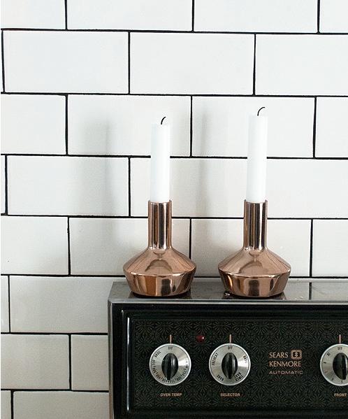 H&M Copper Candlesticks | brownpaperbelle.com