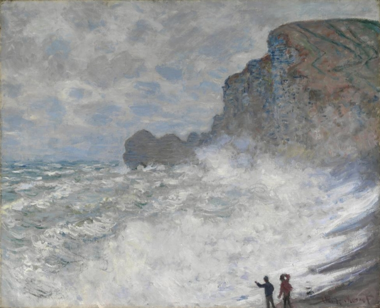 Monet Rough weather at Étretat| brownpaperbelle.com