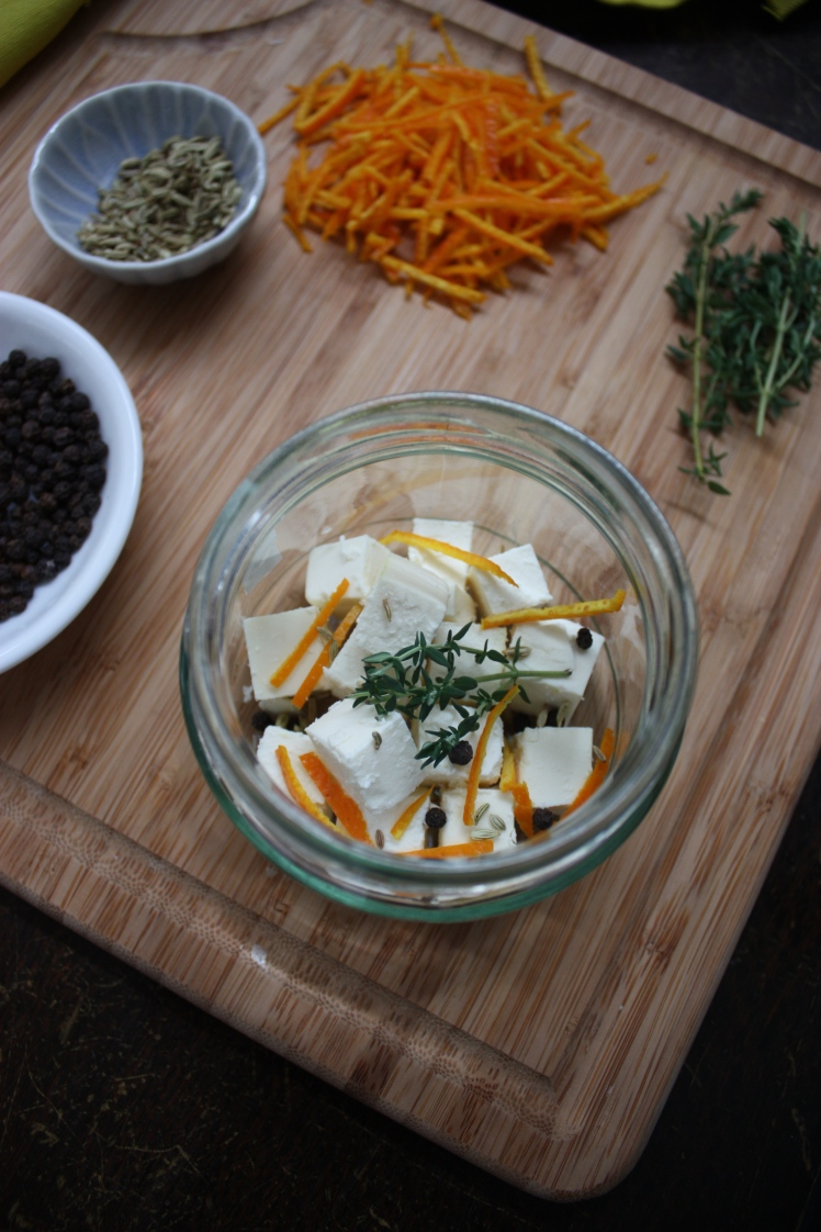 Orange & Fennel Marinated Feta | brownpaperbelle.com