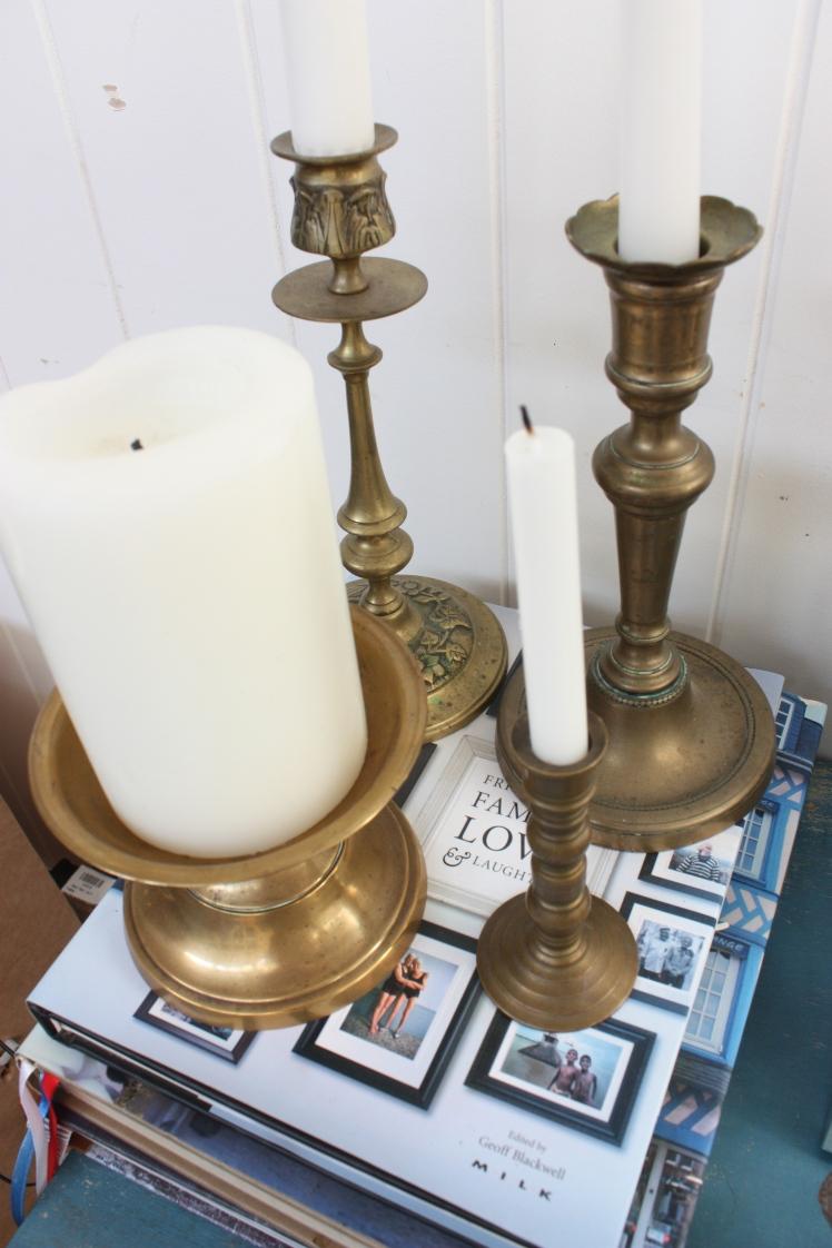 Vintage Find: Brass Candlestick Collection | brownpaperbelle.com