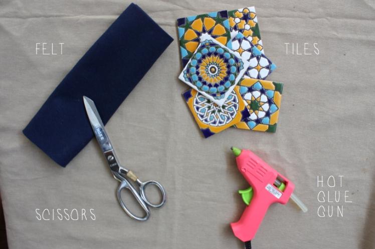 Spanish Tile Coaster DIY | brownpaperbelle.com