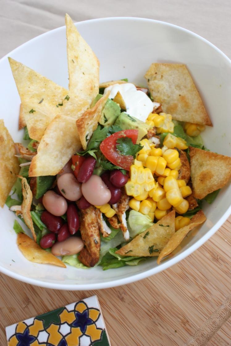 Tortilla Salad | brownpaperbelle.com