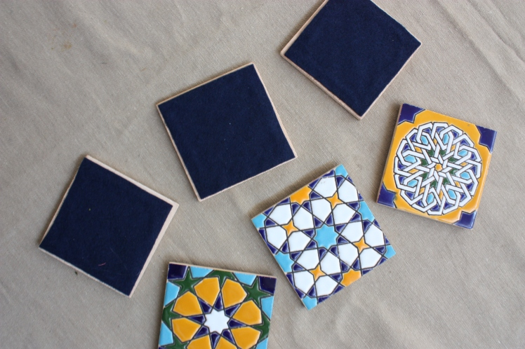 Spanish Tile Coaster DIY | brownpaperbelle.com