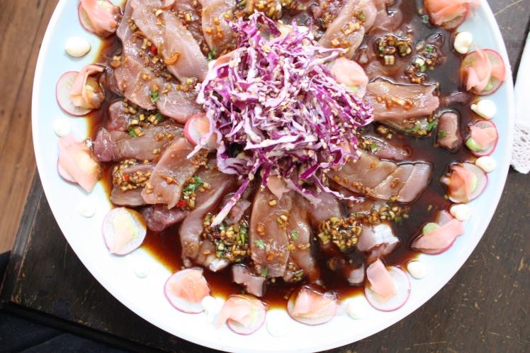 Tuna Sashimi with Sesame Slaw | brownpaperbelle.com