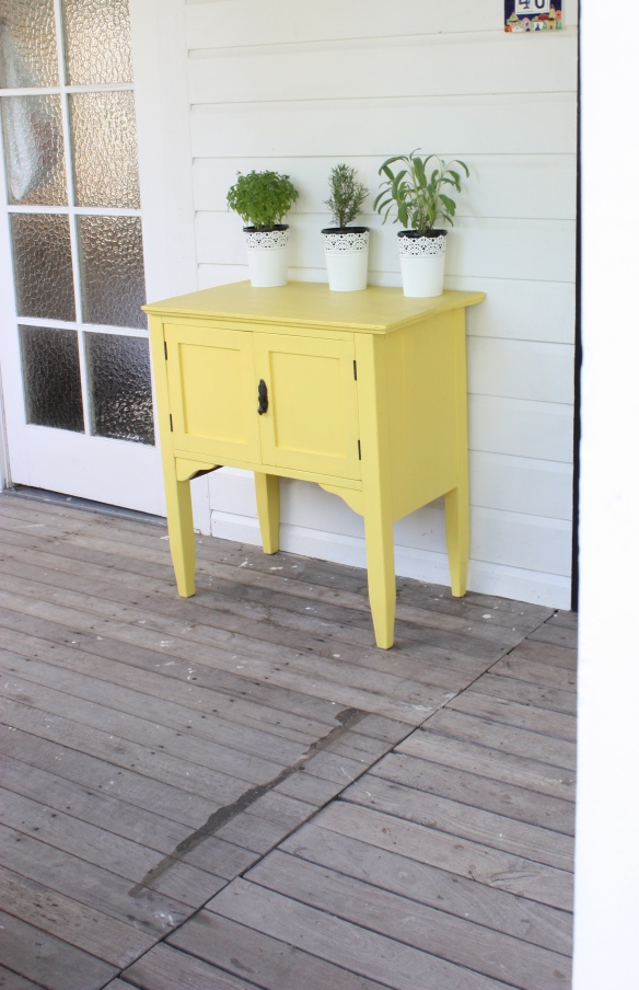 Before & After: Recycled Yellow Cabinet